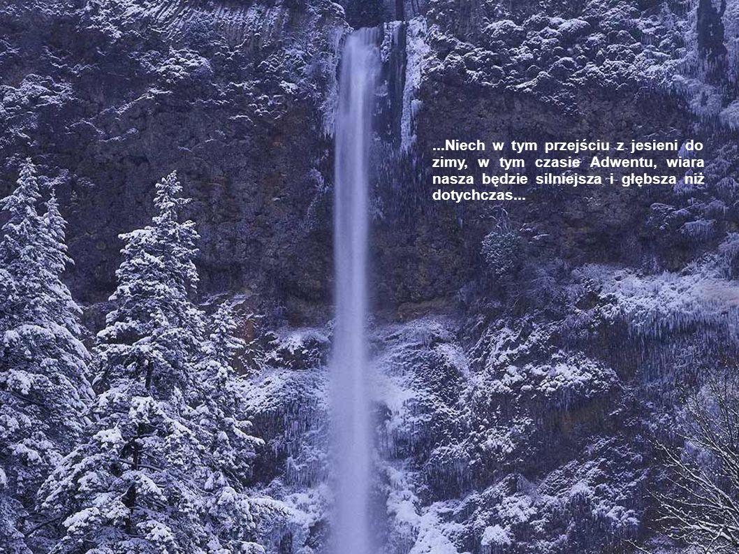 ...Niech w tym przejściu z jesieni do zimy, w tym czasie Adwentu, wiara nasza będzie silniejsza i głębsza niż dotychczas...
