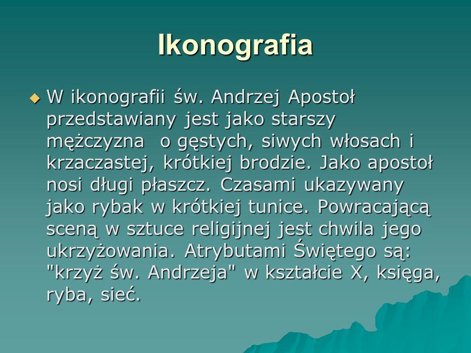 Ikonografia  W ikonografii św.