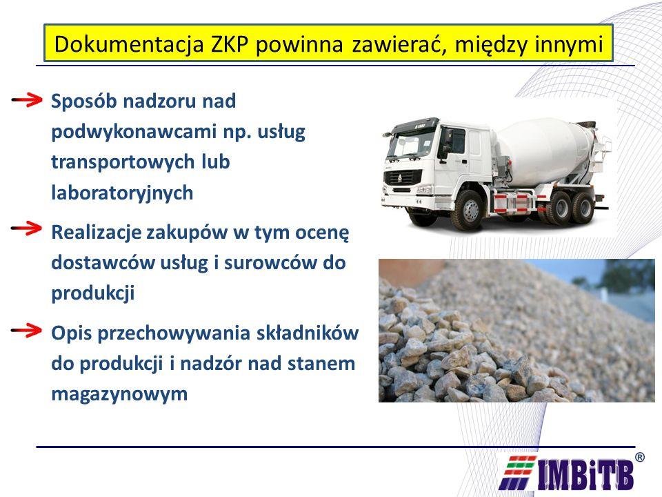 Dokumentacja ZKP powinna zawierać, między innymi Sposób nadzoru nad podwykonawcami np.