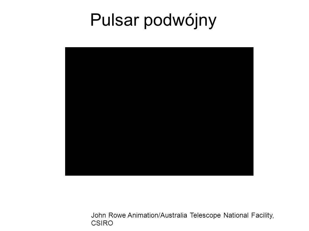 Pulsar podwójny John Rowe Animation/Australia Telescope National Facility, CSIRO