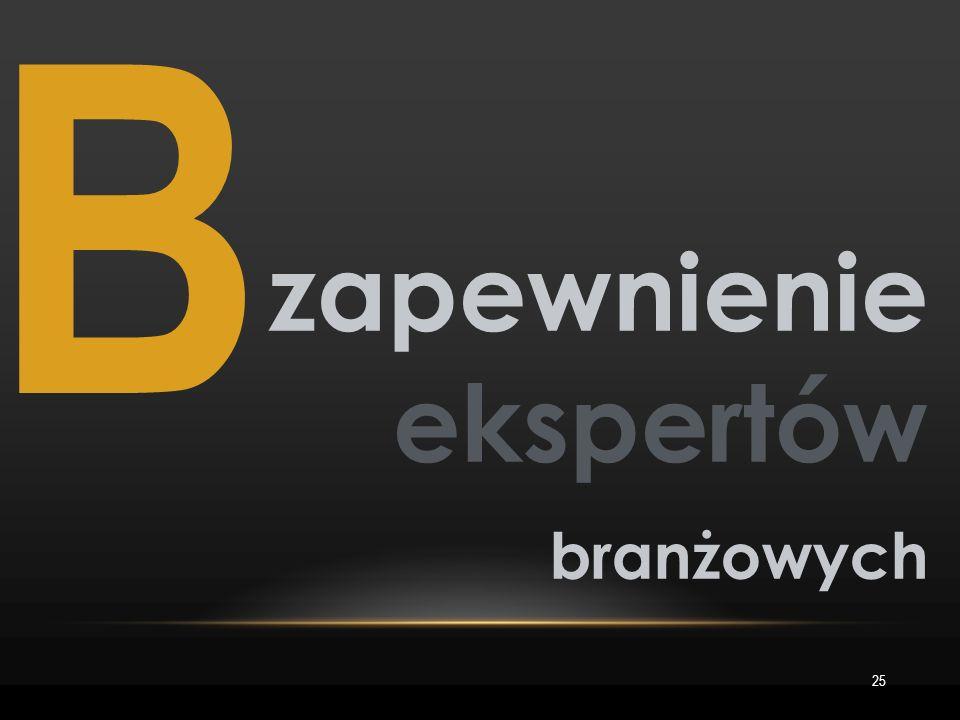 B 25 zapewnienie ekspertów branżowych