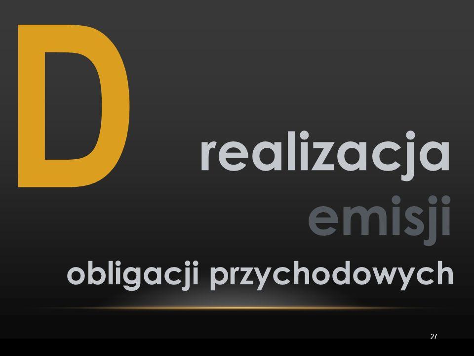 D 27 realizacja emisji obligacji przychodowych