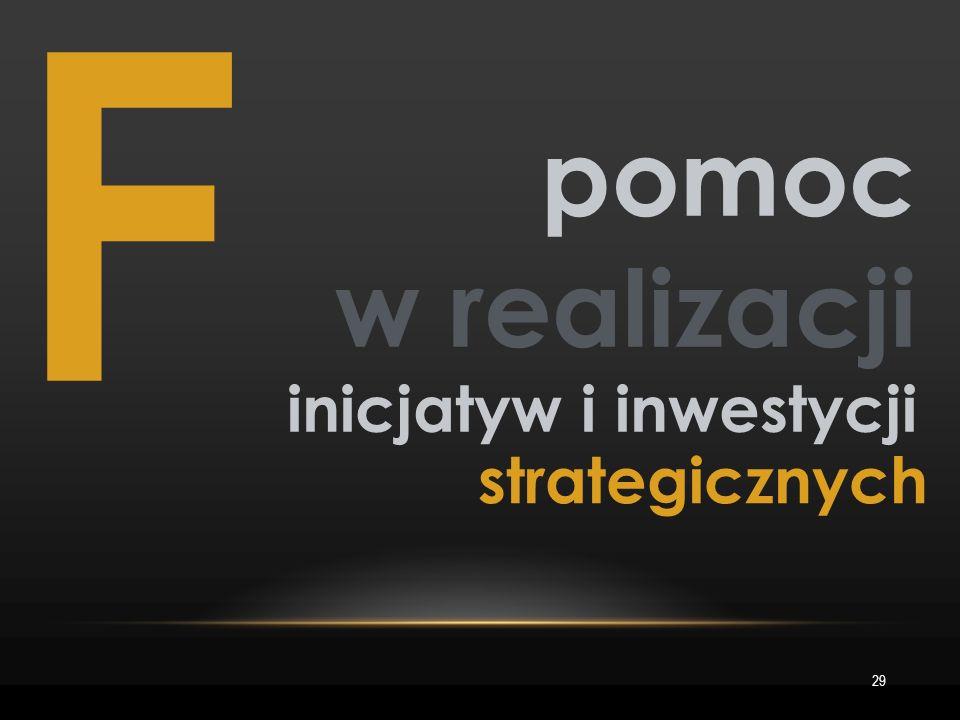 F 29 pomoc w realizacji inicjatyw i inwestycji strategicznych