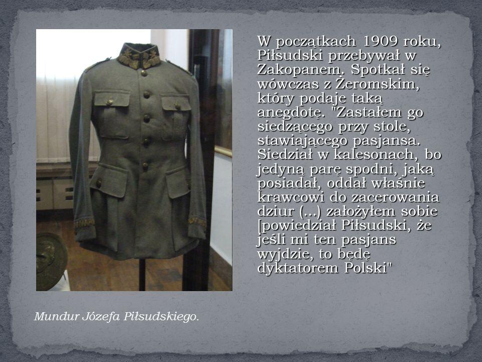 W początkach 1909 roku, Piłsudski przebywał w Zakopanem.
