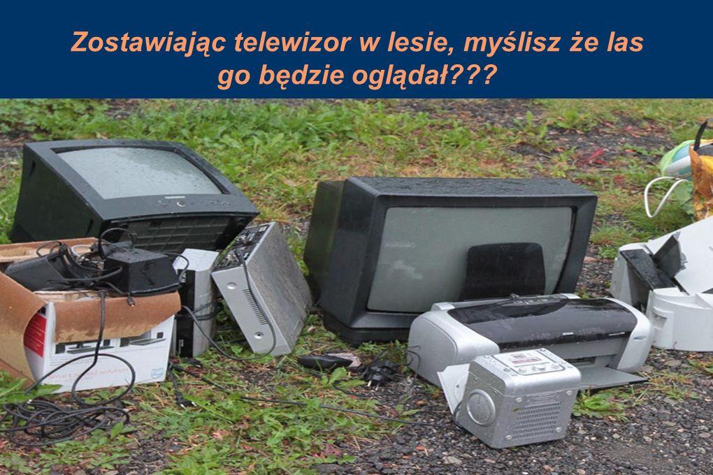 Zostawiając telewizor w lesie, myślisz że las go będzie oglądał???