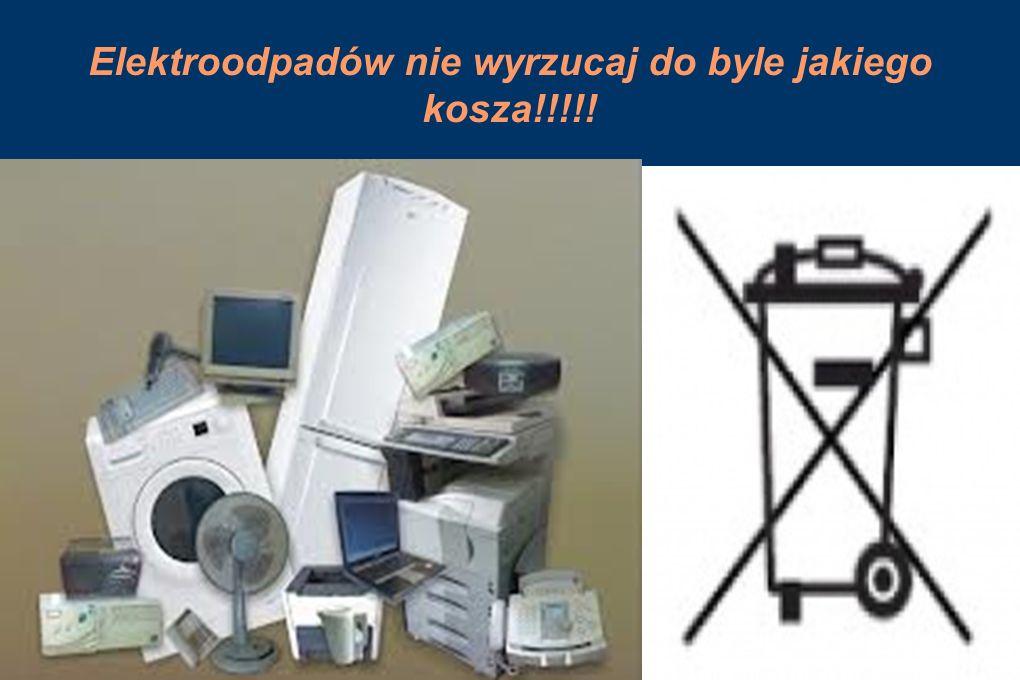 Elektroodpadów nie wyrzucaj do byle jakiego kosza!!!!!