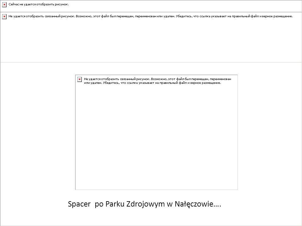 Spacer po Parku Zdrojowym w Nałęczowie….