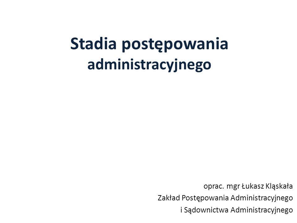 Stadia postępowania administracyjnego oprac.