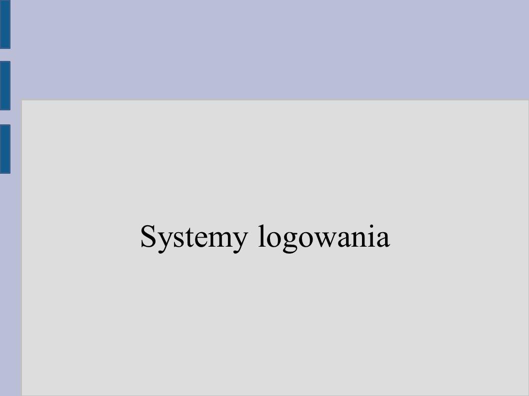 Systemy logowania