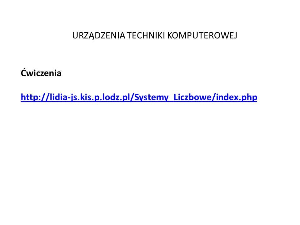 Ćwiczenia http://lidia-js.kis.p.lodz.pl/Systemy_Liczbowe/index.php