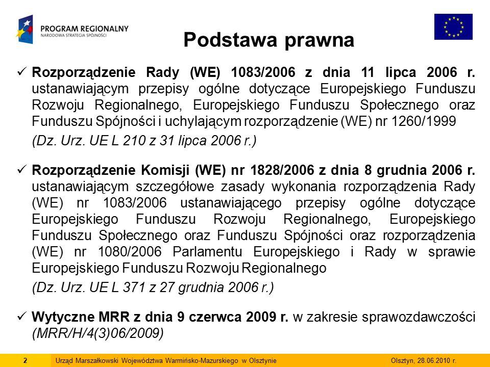 2Urząd Marszałkowski Województwa Warmińsko-Mazurskiego w Olsztynie Olsztyn, 28.06.2010 r.