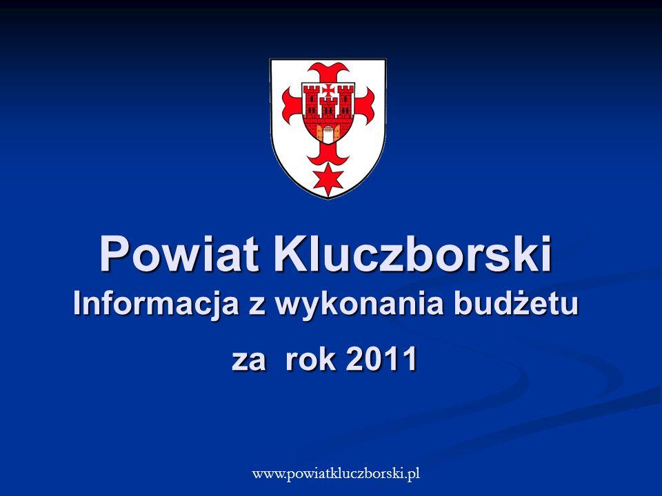 Powiat Kluczborski Informacja z wykonania budżetu za rok 2011 www.powiatkluczborski.pl