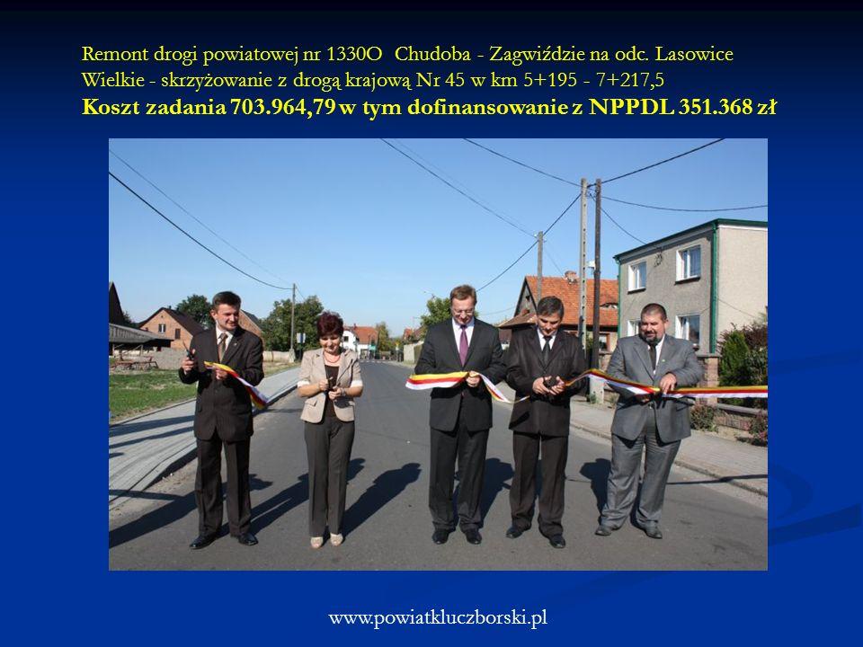 www.powiatkluczborski.pl Remont drogi powiatowej nr 1330O Chudoba - Zagwiździe na odc. Lasowice Wielkie - skrzyżowanie z drogą krajową Nr 45 w km 5+19