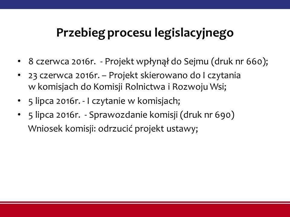 Przebieg procesu legislacyjnego 8 czerwca 2016r.