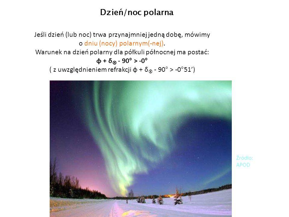 Jeśli dzień (lub noc) trwa przynajmniej jedną dobę, mówimy o dniu (nocy) polarnym(-nej).