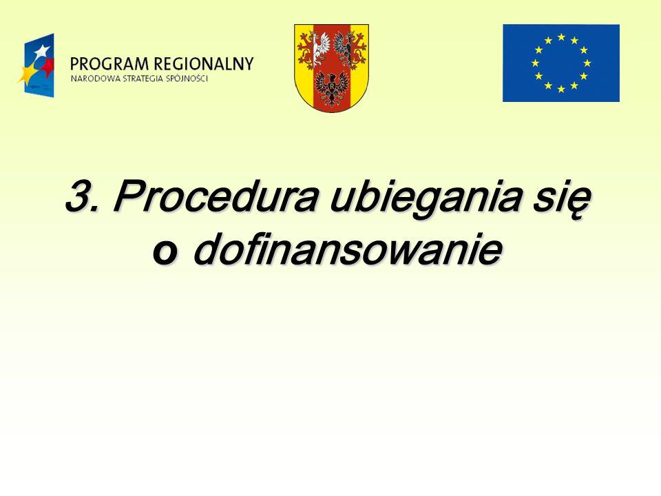 3. Procedura ubiegania się o dofinansowanie
