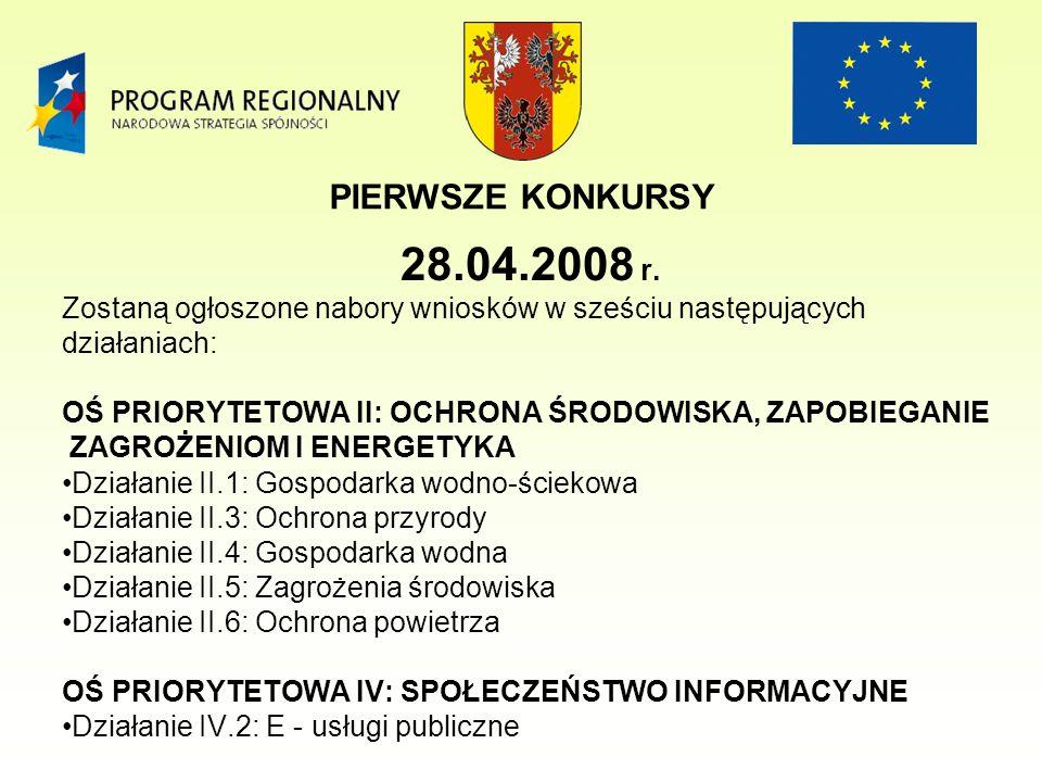 PIERWSZE KONKURSY 28.04.2008 r.