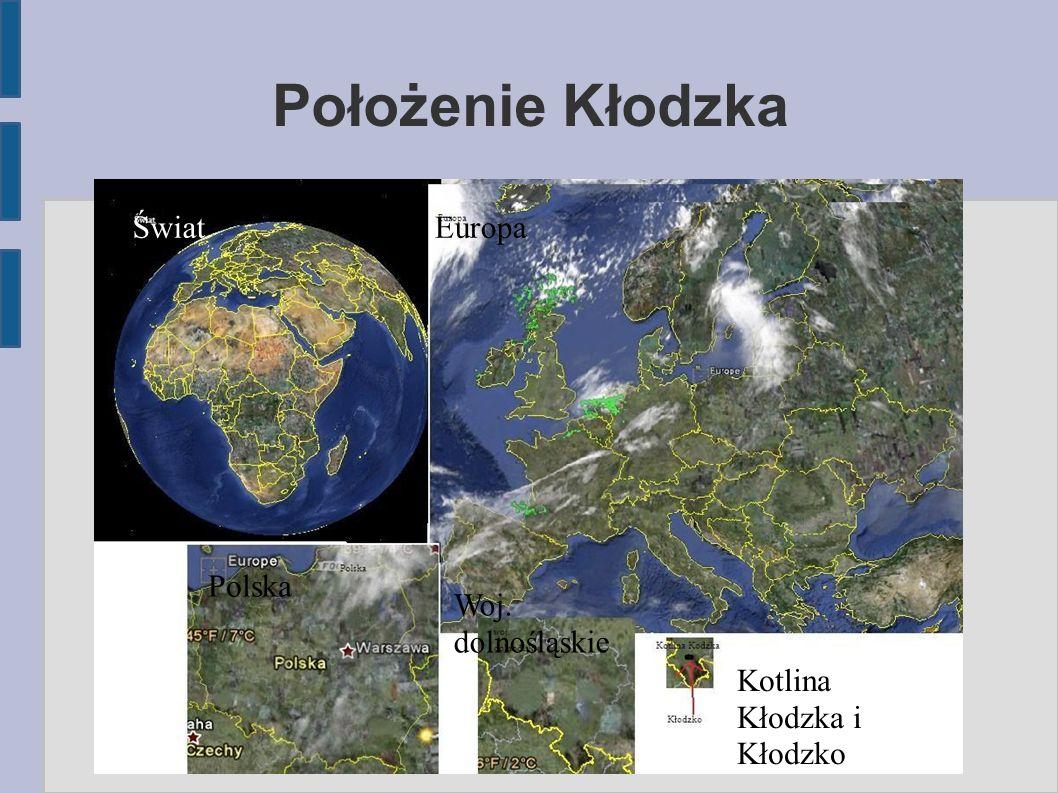 Dane o Kłodzku Kłodzko (łac.Glacium, Glacensis urbs, Glocium, niem.