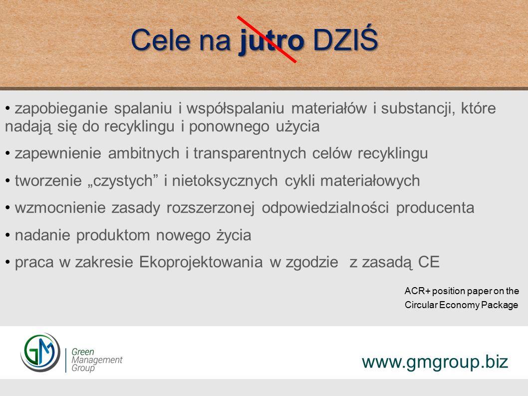KPGO 2030 Brak synergii między gospodarką odpadami a innymi sektorami gospodarki Niewystarczający poziom nadzoru organów administracji publicznej nad przestrzeganiem przez JST hierarchii postepowania z odpadami www.gmgroup.biz