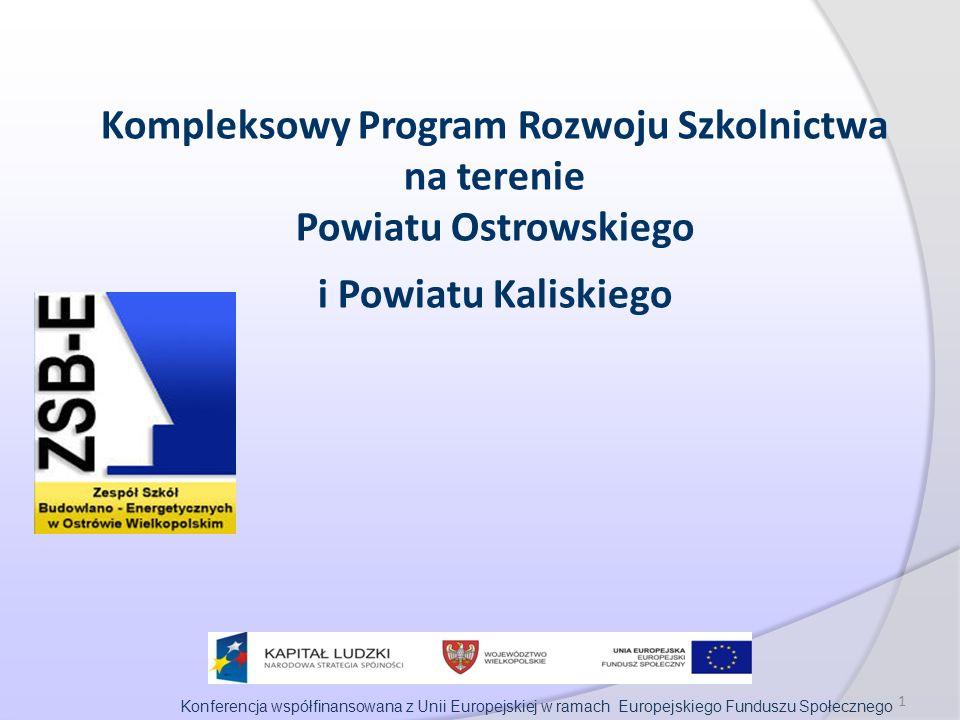 Konferencja współfinansowana z Unii Europejskiej w ramach Europejskiego Funduszu Społecznego 1 Kompleksowy Program Rozwoju Szkolnictwa na terenie Powiatu Ostrowskiego i Powiatu Kaliskiego
