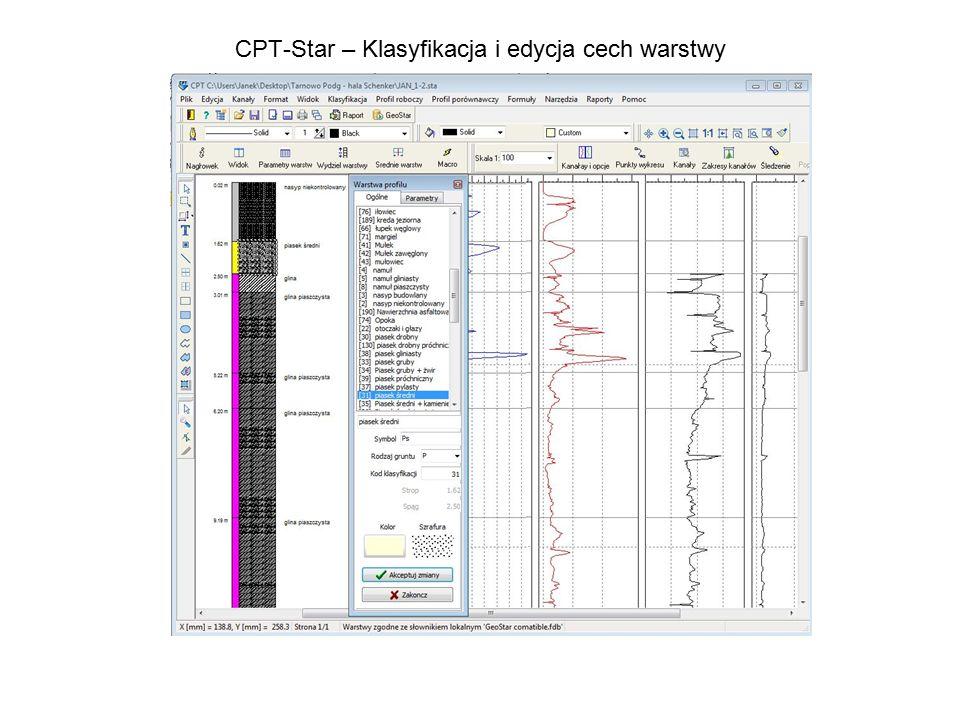 CPT-Star – Klasyfikacja i edycja cech warstwy