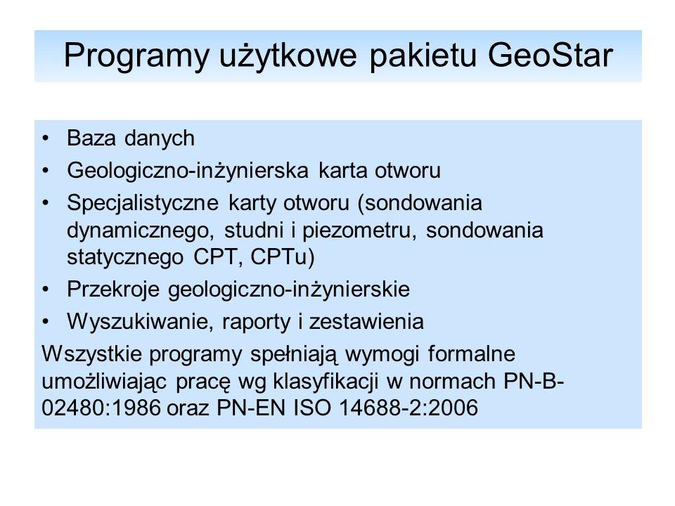 GeoStar - Przekrój Geologiczno-Inżynierski