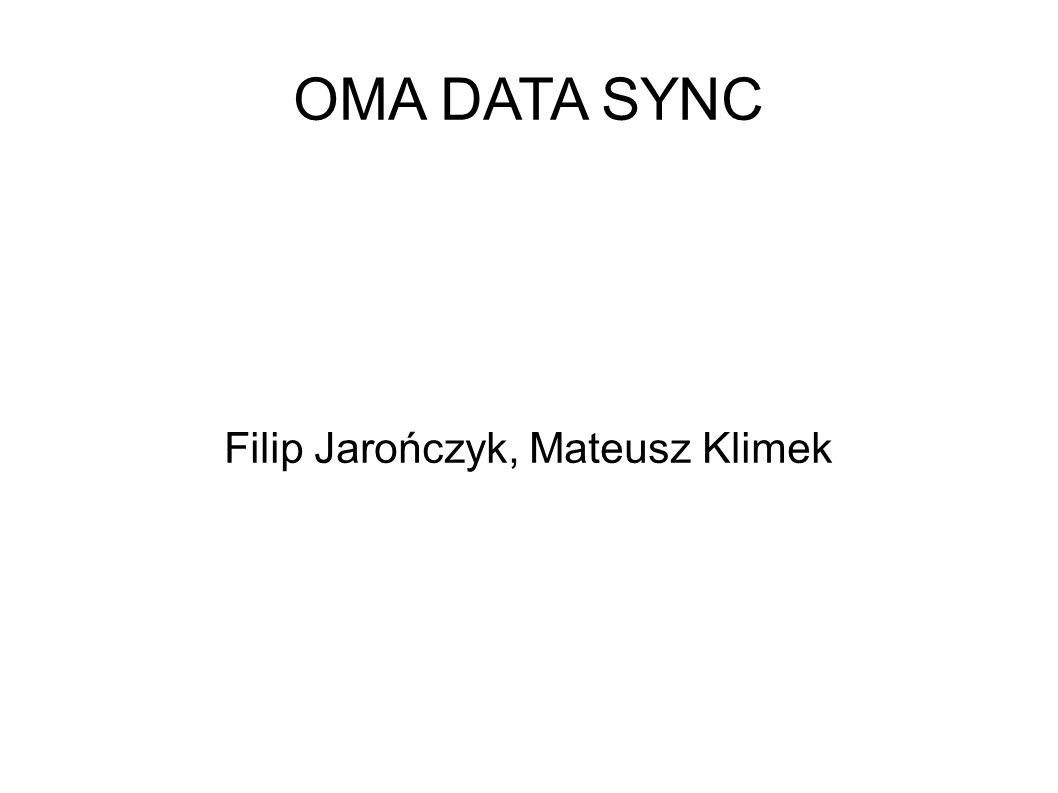 Co to jest OMA Data Sync: Protokół używający wiadomości zapisanych w SyncML Cele: Synchronizacja danych sieciowych z dowolnym urządzeniem mobilnym i odwrotnie Cechy: może używać dowolnego protokołu komunikacji, i sieci można wymieniać dane dowolnego typu niezależny od aplikacji i ich danych musi działać na urządzeniach z ograniczoną ilością pamięci musi być w stanie zsynchronizować dowolne urządzenia