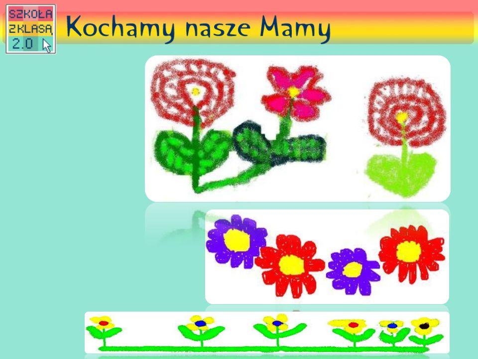 Kwiaty narysowane w programie Paint również nieźle nam wyszły!