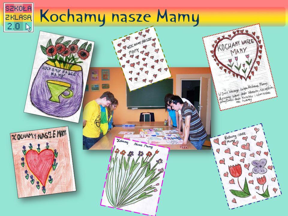 """Projekt """"Kochamy nasze Mamy został przygotowany przez redaktorów gazetki szkolnej """"Kleks oraz ich opiekunów Dziękujemy za uwagę"""