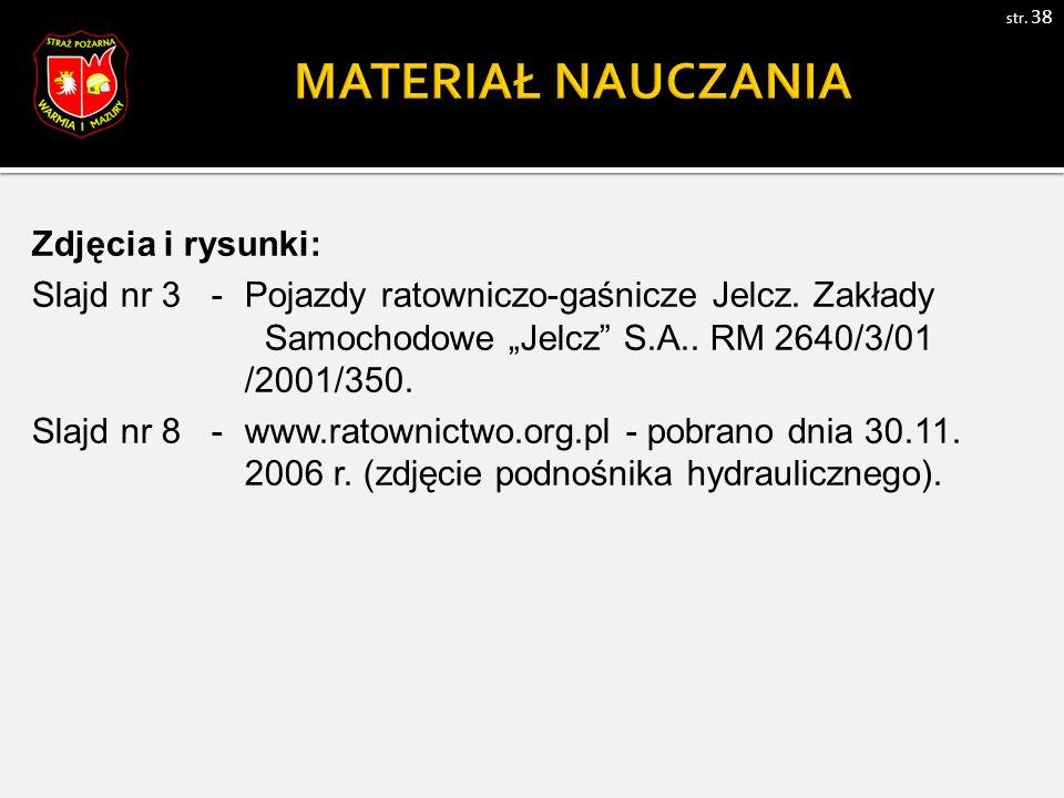 Zdjęcia i rysunki: Slajd nr 3 - Pojazdy ratowniczo-gaśnicze Jelcz.