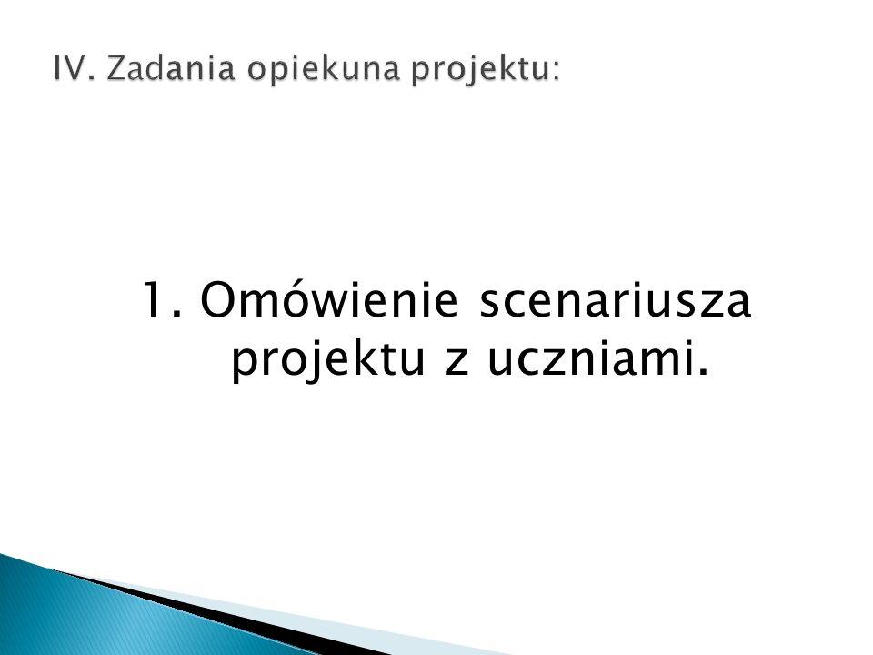 5. Pomoc uczniom na każdym etapie realizacji projektu (konsultacje).