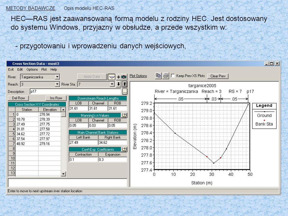 HEC—RAS jest zaawansowaną formą modelu z rodziny HEC.