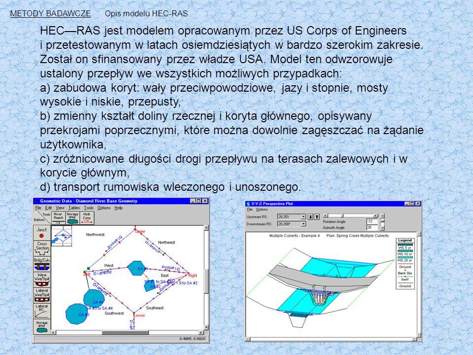 HEC—RAS jest modelem opracowanym przez US Corps of Engineers i przetestowanym w latach osiemdziesiątych w bardzo szerokim zakresie.