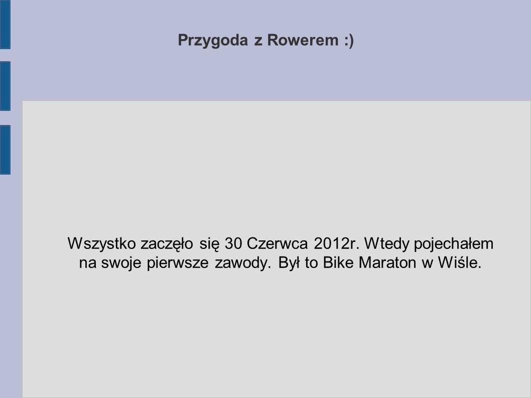 Przygoda z Rowerem :) Wszystko zaczęło się 30 Czerwca 2012r.
