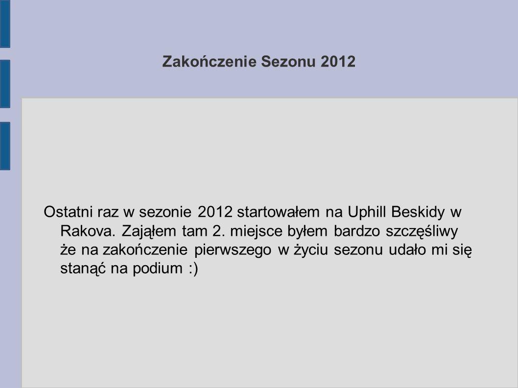 Zakończenie Sezonu 2012 Ostatni raz w sezonie 2012 startowałem na Uphill Beskidy w Rakova.