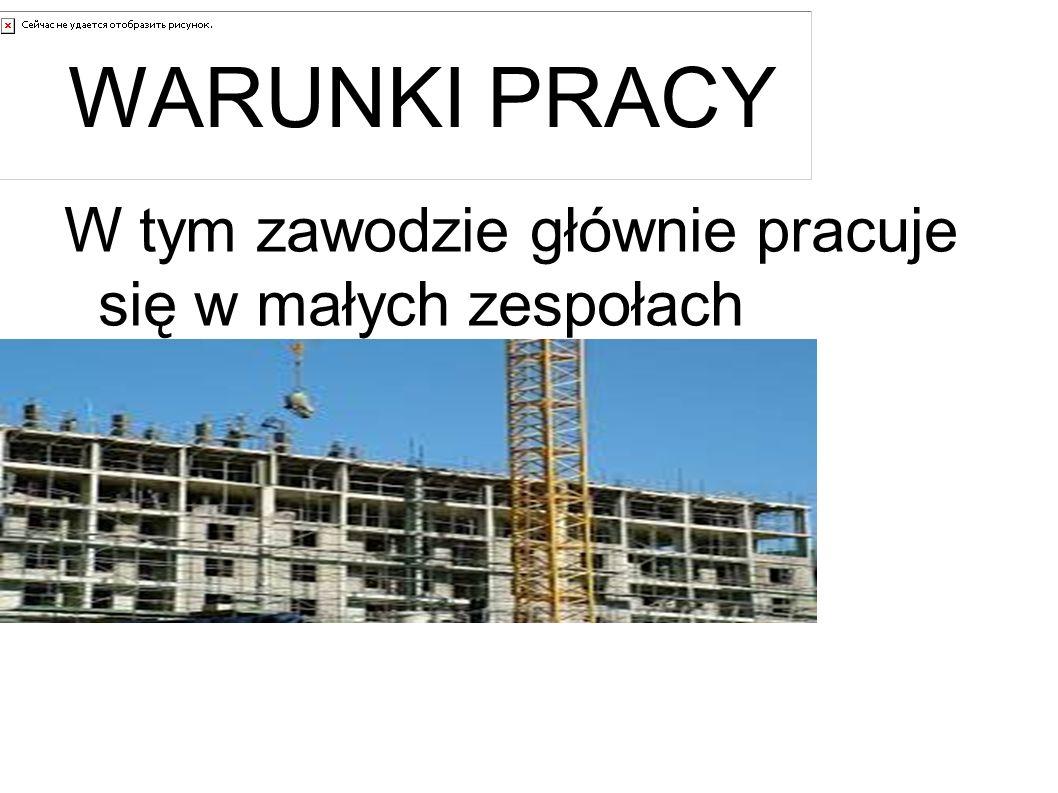 WYMAGANIA Osoba na tym stanowisku powinna mieć wykształcenie zawodowe o profilu budowlanym.