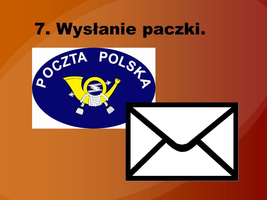 7. Wysłanie paczki.