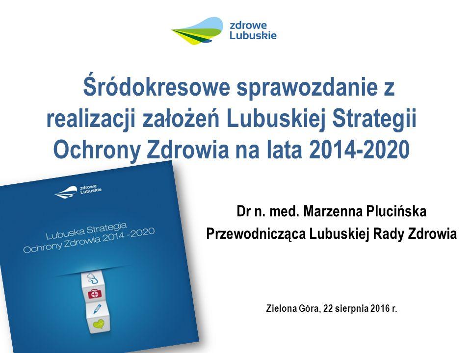 Śródokresowe sprawozdanie z realizacji założeń Lubuskiej Strategii Ochrony Zdrowia na lata 2014-2020 Dr n.