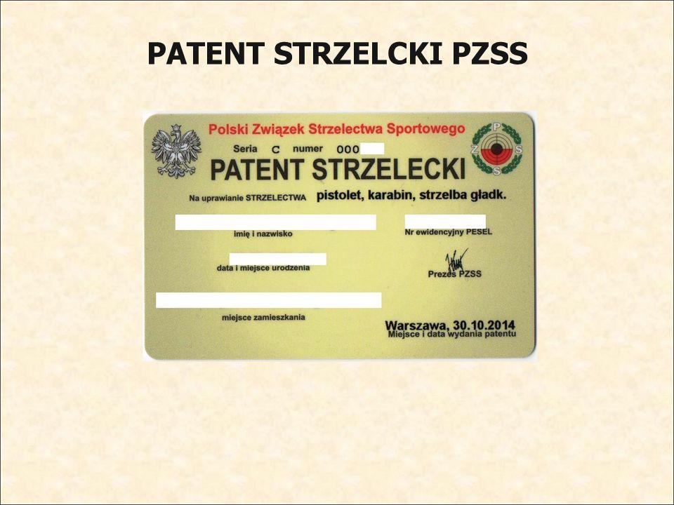 PATENT STRZELCKI PZSS