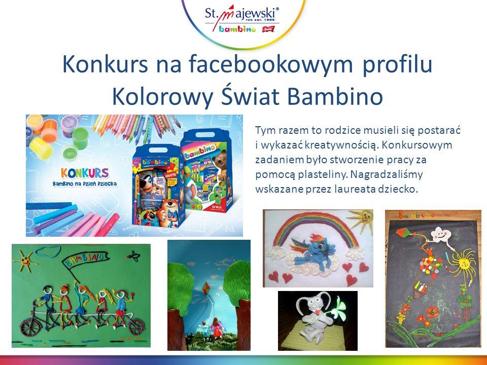 Konkurs na facebookowym profilu Kolorowy Świat Bambino Tym razem to rodzice musieli się postarać i wykazać kreatywnością.
