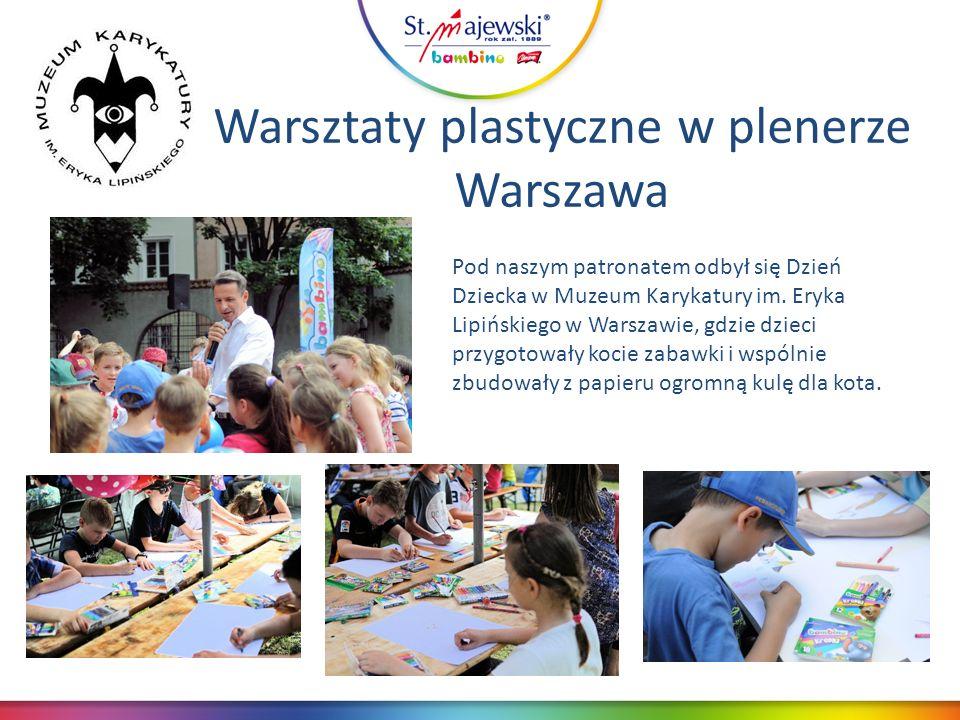 Warsztaty plastyczne w plenerze Warszawa Pod naszym patronatem odbył się Dzień Dziecka w Muzeum Karykatury im.