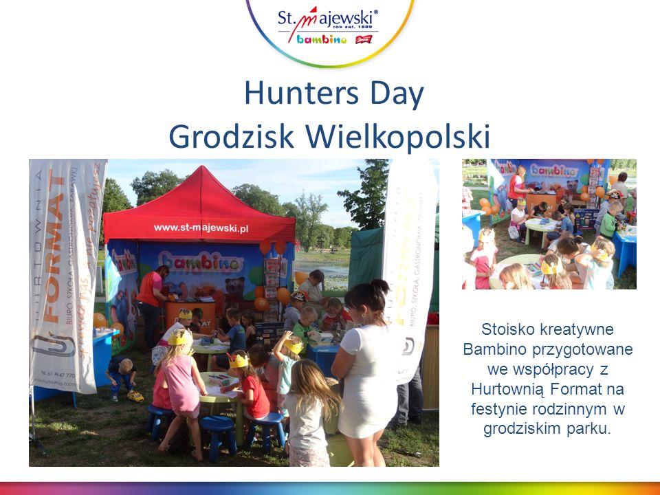 Hunters Day Grodzisk Wielkopolski Stoisko kreatywne Bambino przygotowane we współpracy z Hurtownią Format na festynie rodzinnym w grodziskim parku.