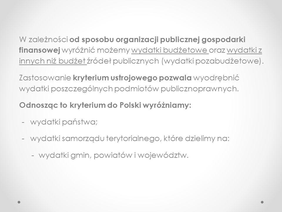 Wydatki publiczne - Wydatki nabywcze (definitywne) – dokonywane przez jednostki na własny rachunek ze środków oddanych do jej dyspozycji.