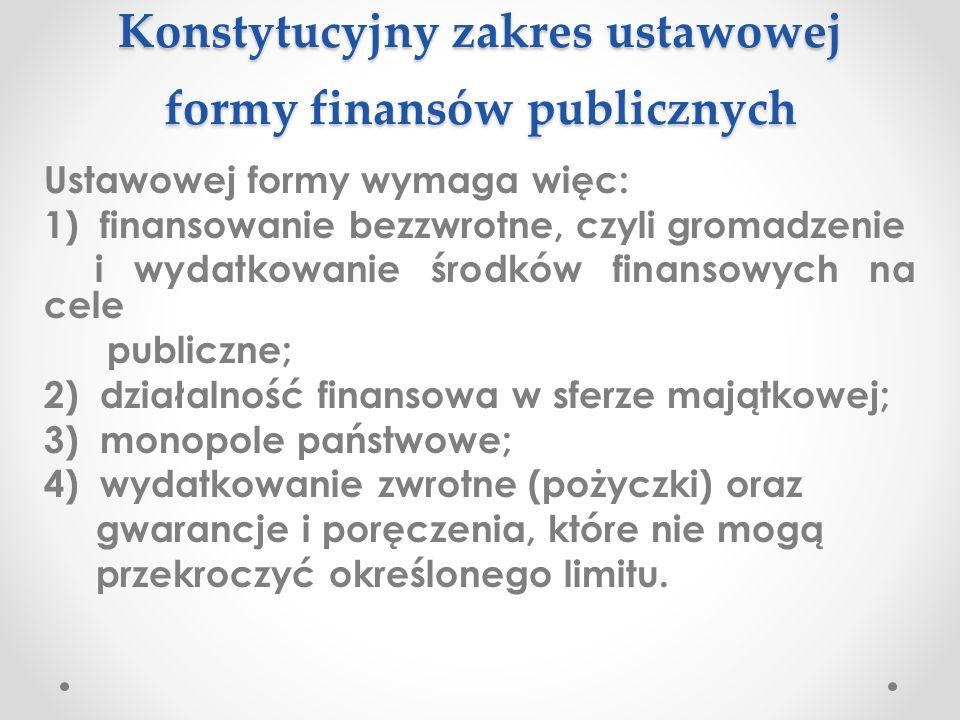 """Konstytucja a finanse publiczne Zdaniem Trybunału Konstytucyjnego, """"art."""