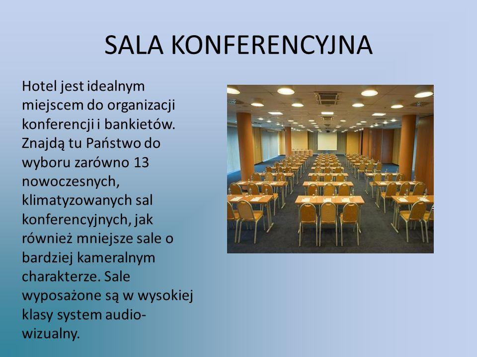 SALA KONFERENCYJNA Hotel jest idealnym miejscem do organizacji konferencji i bankietów.