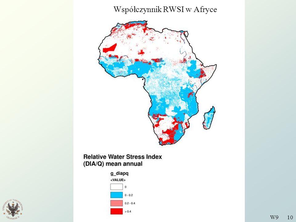Wstęp do Fizyki Środowiska W9 10 Współczynnik RWSI w Afryce