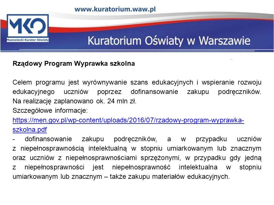 """Rządowy Program """"Bezpieczna+ Wspomaganie organów prowadzących szkoły w zapewnieniu bezpiecznych warunków nauki, wychowania i opieki w szkołach."""