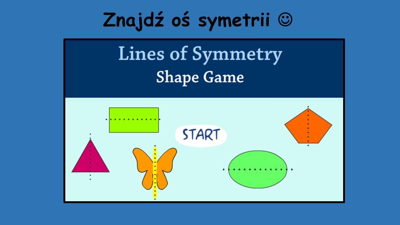 Znajdź oś symetrii