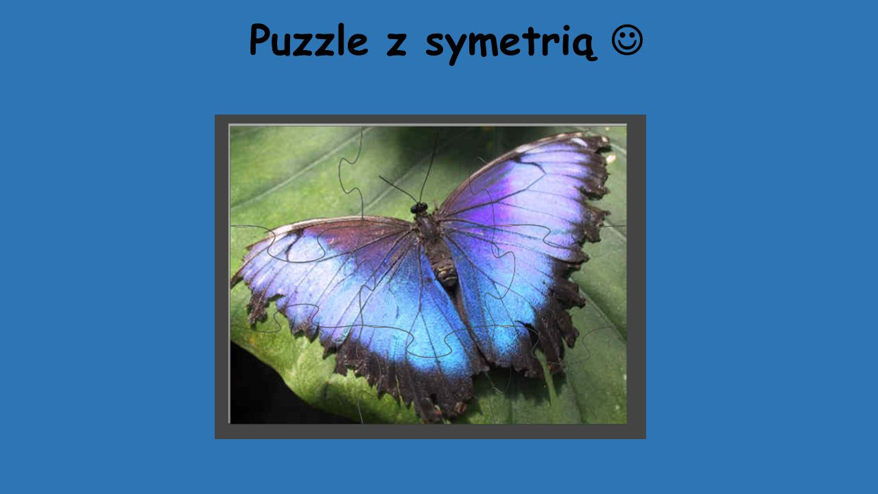 Puzzle z symetrią