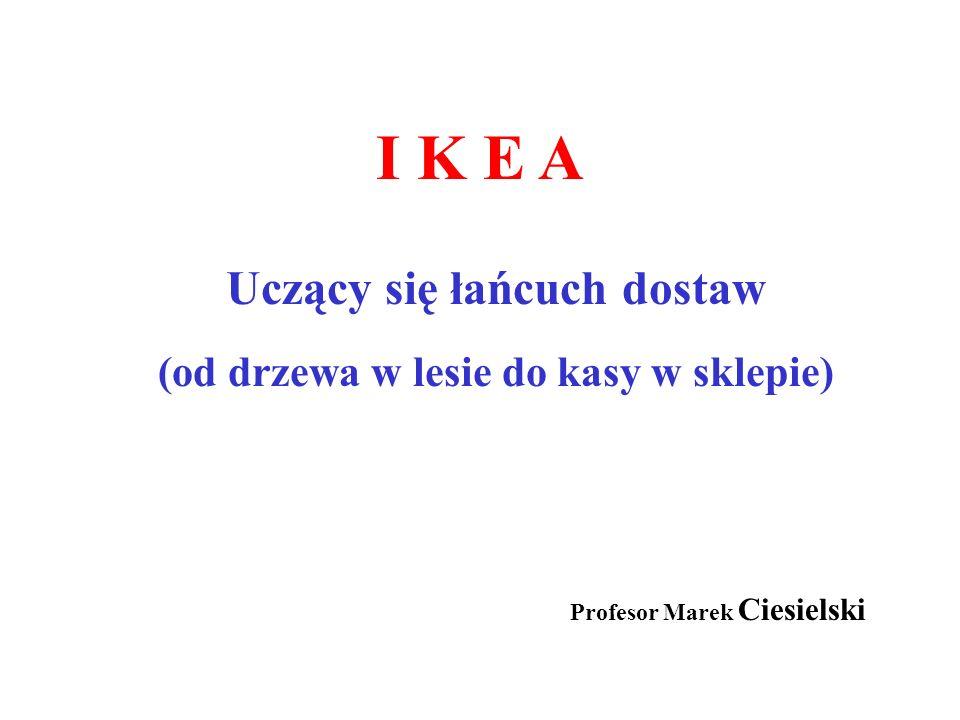 I K E A Uczący się łańcuch dostaw (od drzewa w lesie do kasy w sklepie) Profesor Marek Ciesielski